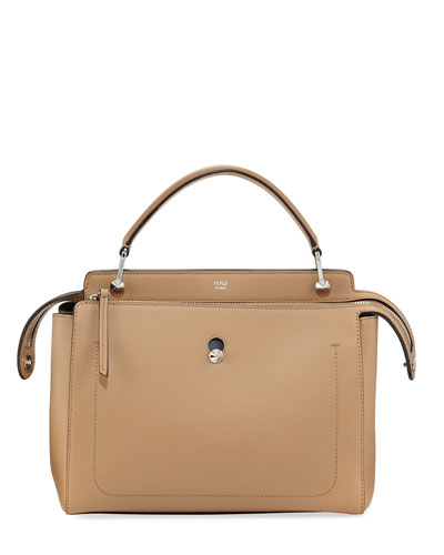 Dotcom Chain Dual-Zip Satchel Bag