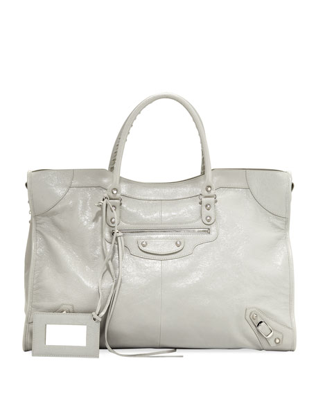 Balenciaga Metallic Edge Classic Velo AJ Bag, Light