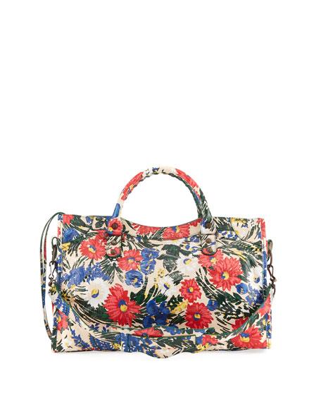 Classic City AJ Small Floral-Print Satchel Bag