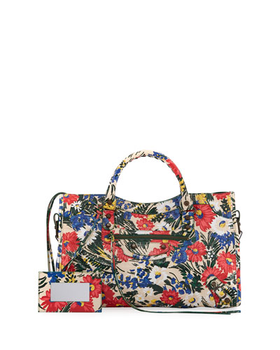Classic City AJ Small Floral-Print Satchel Bag