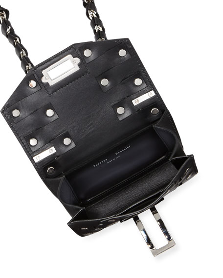Hava Chain Leather Crossbody Bag