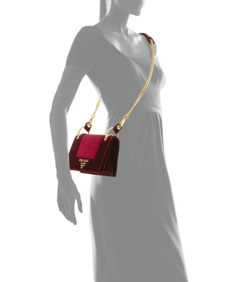 Cahier Velvet Shoulder Bag