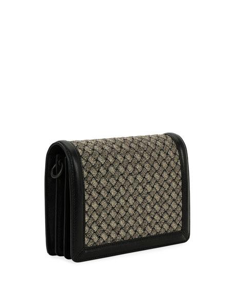 Intrecciato Napa & Wool Clutch Bag