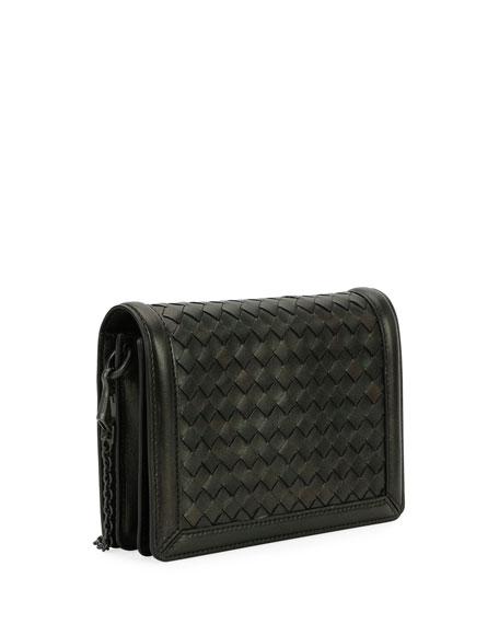 Intrecciato Napa Leather Clutch Bag
