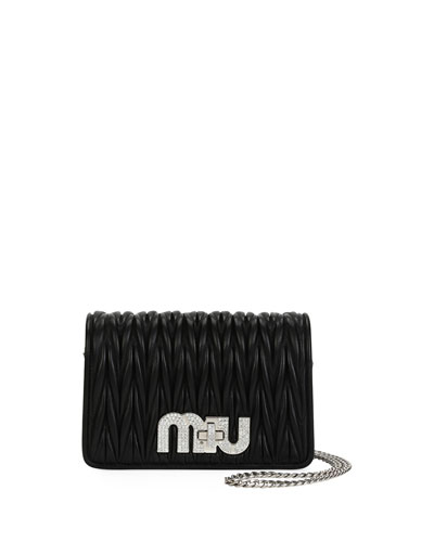Matelasse Leather Chain Shoulder Bag