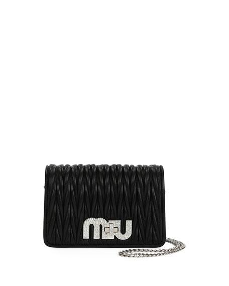 Matelasse Leather Chain Shoulder Bag
