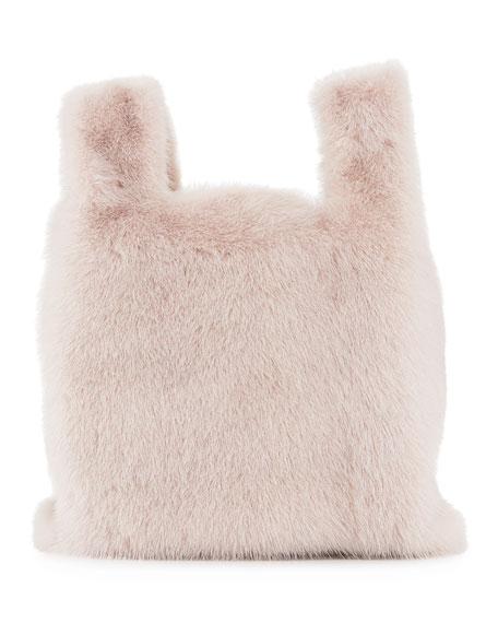Furrissima Mink Fur Tote Bag, Taupe
