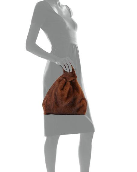 Furrissima Mink Fur Bag, Brown