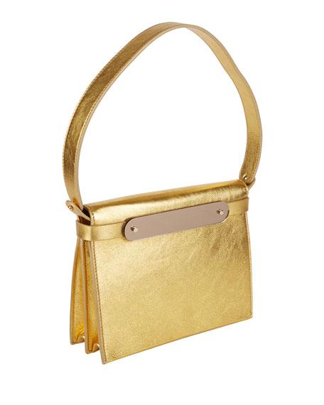 Candy Metallic Leather Top-Handle Bag