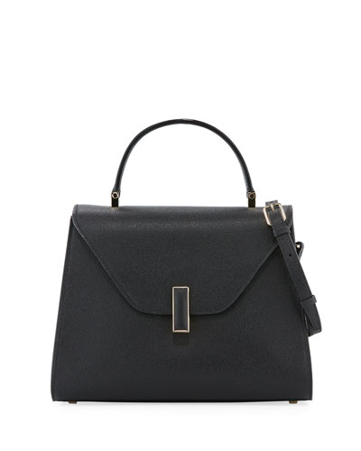 Iside Medium Leather Top-Handle Bag