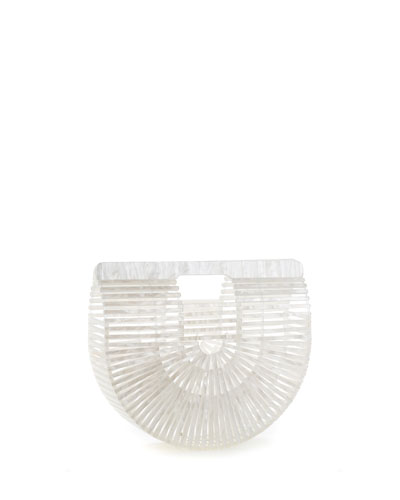 Ark Small Pearlescent Acrylic Clutch Bag