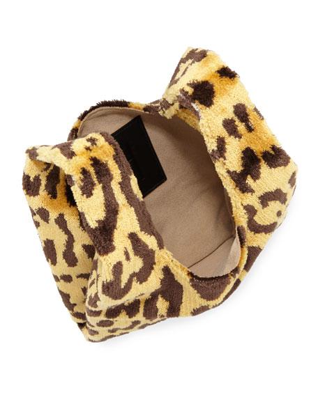 Mini Venetian Leopard Brocade Shopper Tote Bag