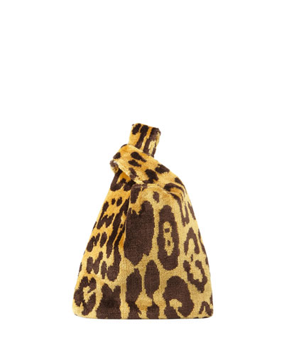 Mini Venetian Leopard Brocade Shopper Tote Bag