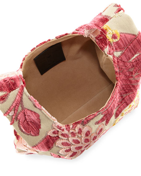 Mini Brocade Shopper Tote Bag
