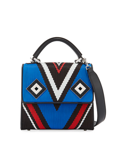 Mini Alex Mask Plisse Satchel Bag