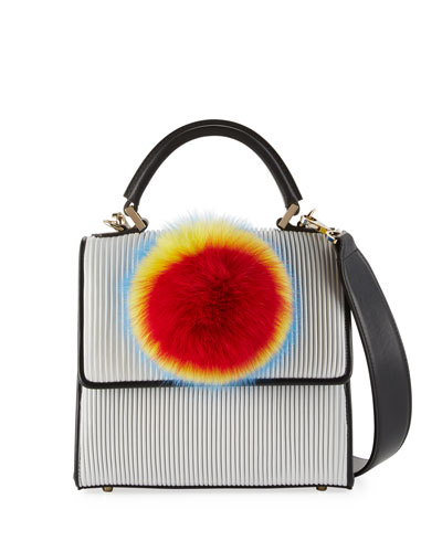 Mini Alex Bunny Pleated Top-Handle Bag