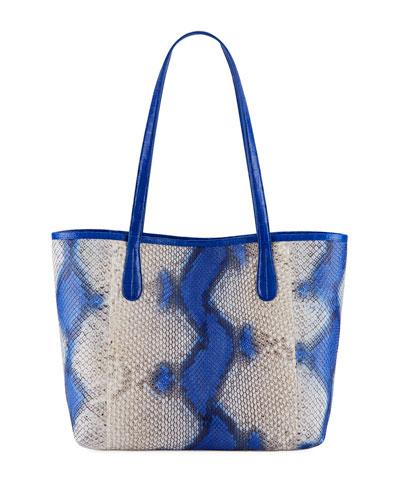 Erica Small New Pyrhon Leaf Tote Bag