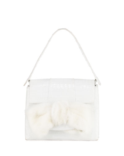 Small Mink Knot Crocodile Bag