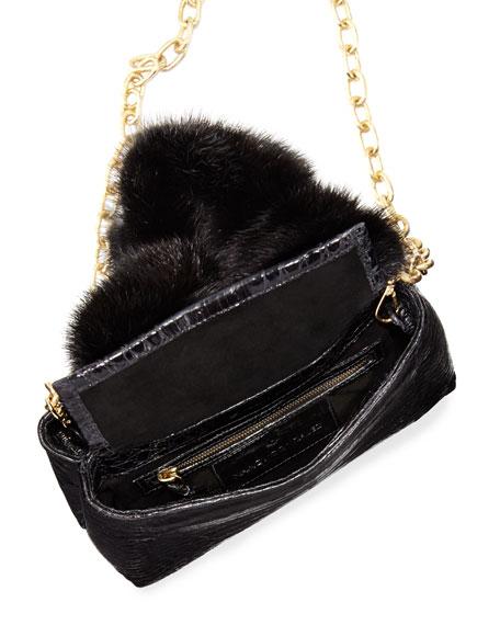 Mini Mink Fur Knot Handle Bag