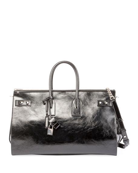 Sac de Jour Crinkle Leather Travel Duffel Bag