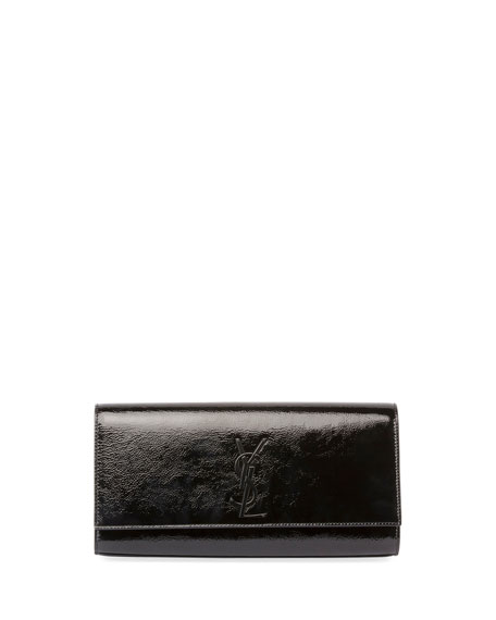 Kate Monogram Patent Leather Clutch Bag