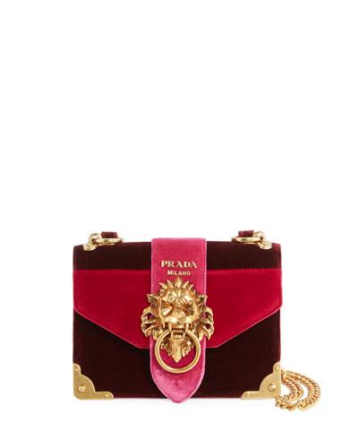 Cahier Velvet Trunk Shoulder Bag