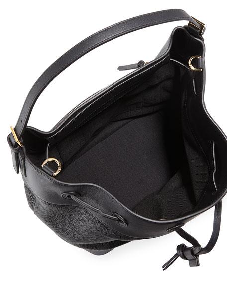 Midnight Calf Leather Bucket Bag
