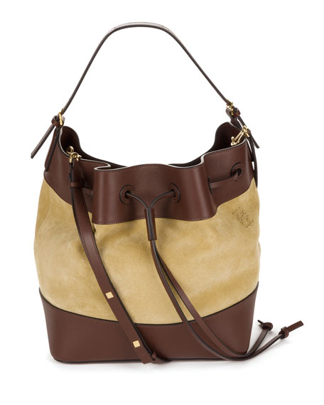 Midnight Suede Bucket Bag