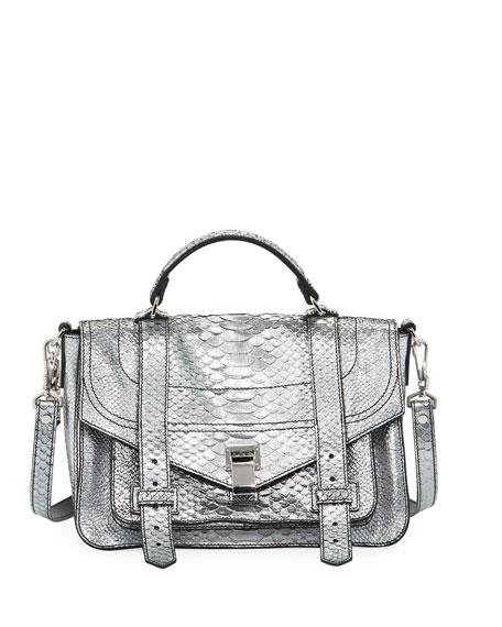 PS1+ Metallic Embossed Satchel Bag
