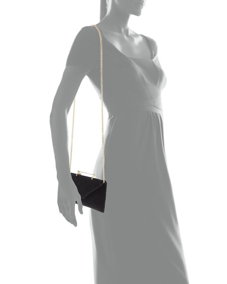Annabelle Velvet Top-Handle Clutch Bag