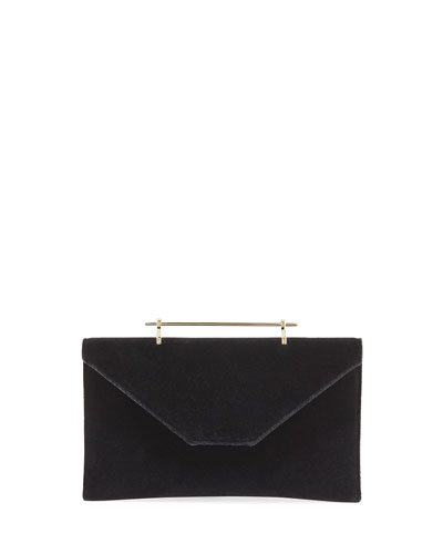 Annabelle Velvet Top-Handle Clutch Bag
