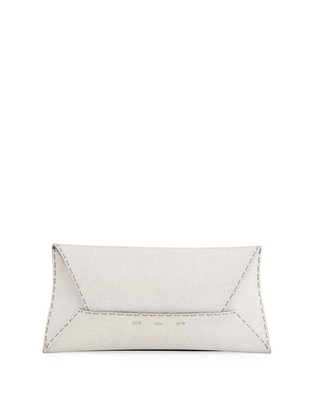 Manila Stretch Sparkle Clutch Bag, Silver