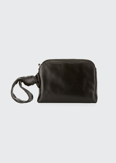 Leather Wristlet Clutch Bag