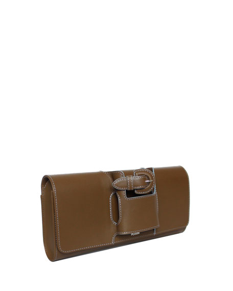 La Boucle Leather Clutch Bag