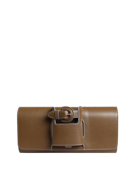 La Boucle Leather Clutch Bag