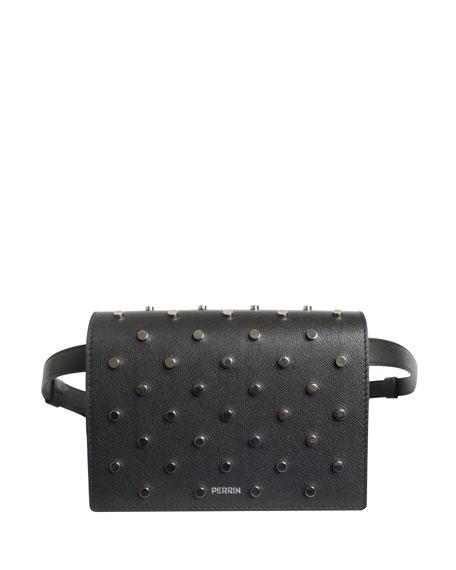 Le Belt Bag in Studded Leather - Tonal Hardware