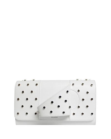 L Asymétrique Leather Clutch Bag
