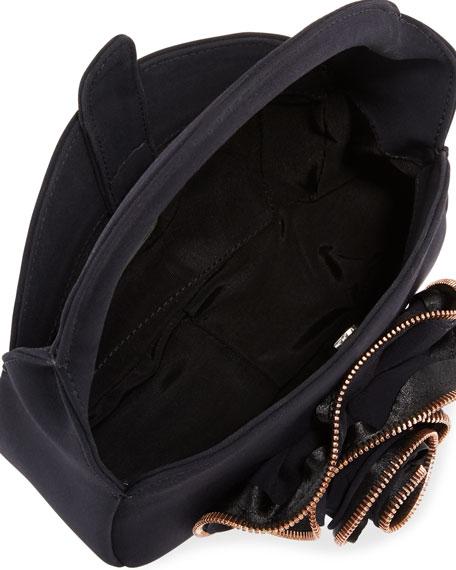 Baby Rose Zip-Trimmed Evening Clutch Bag