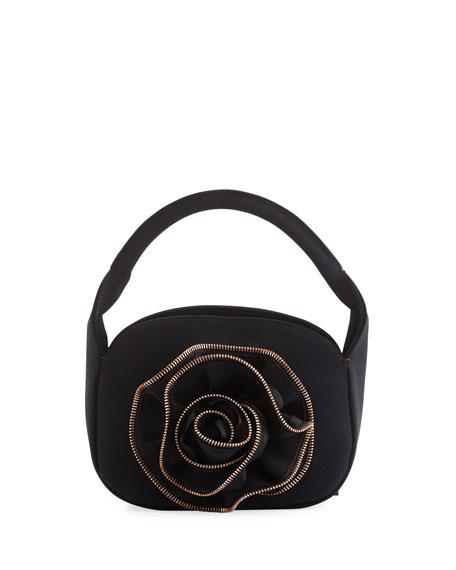 Chiara Boni La Petite Robe Baby Rose Zip-Trimmed