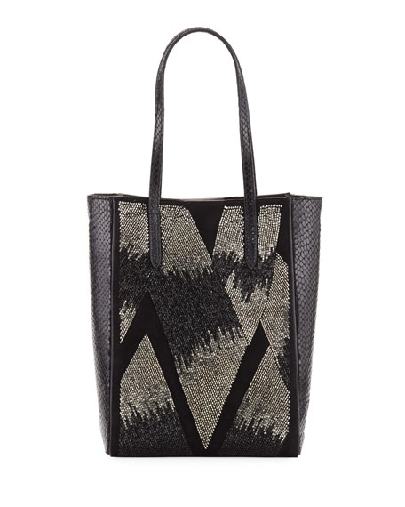 Image 1 of 1: Beaded Ayers Mini Modern Tote