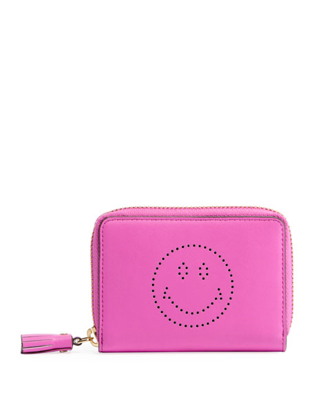 Smiley Small Zip Wallet