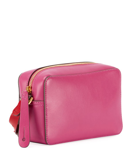 Crossbody Mini Circle Leather Bag