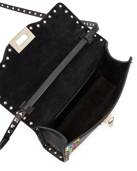 Rockstud Medium Framed Leather Shoulder Bag