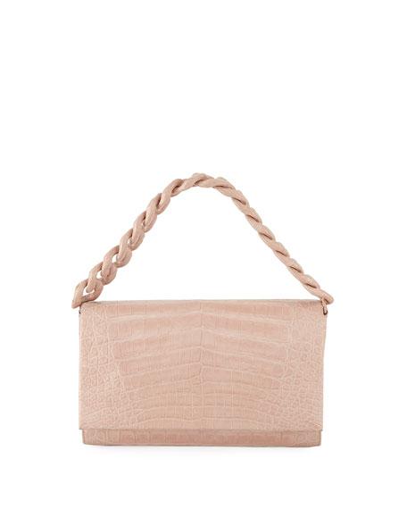 Nancy Gonzalez Chain-Trim Crocodile Convertible Bag