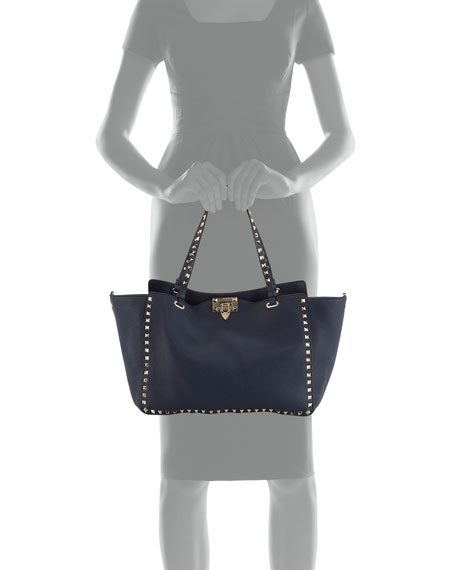 Rockstud Medium Calf Leather Tote Bag