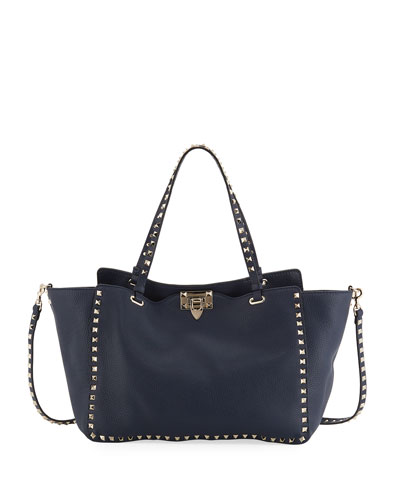 Rockstud Medium Calf Leather Tote Bag