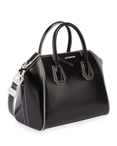 Antigona Small Smooth Leather Satchel Bag