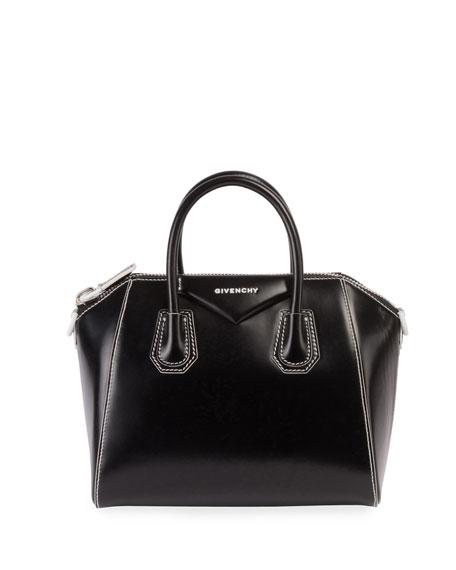 Antigona Small Smooth Leather Satchel Bag