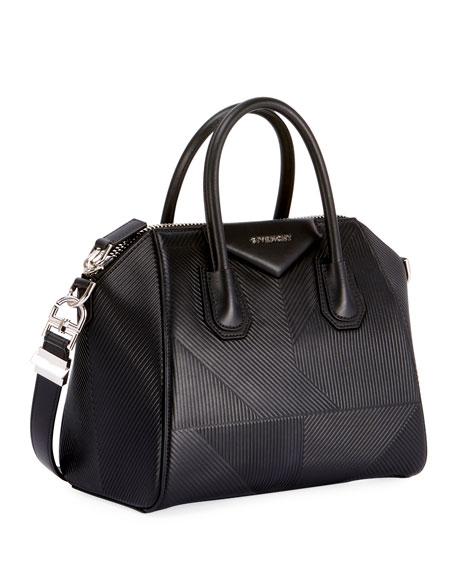 Antigona Small Embossed Leather Satchel Bag