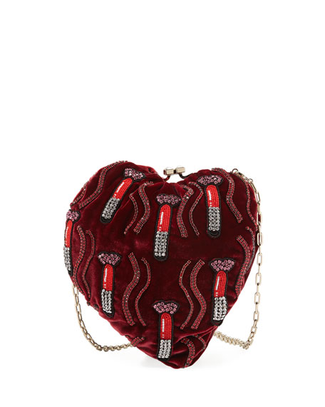 Image 1 of 1: Carry Secrets Sequined Lipstick Minaudiere Bag
